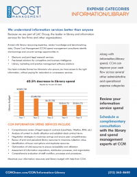 information library spend