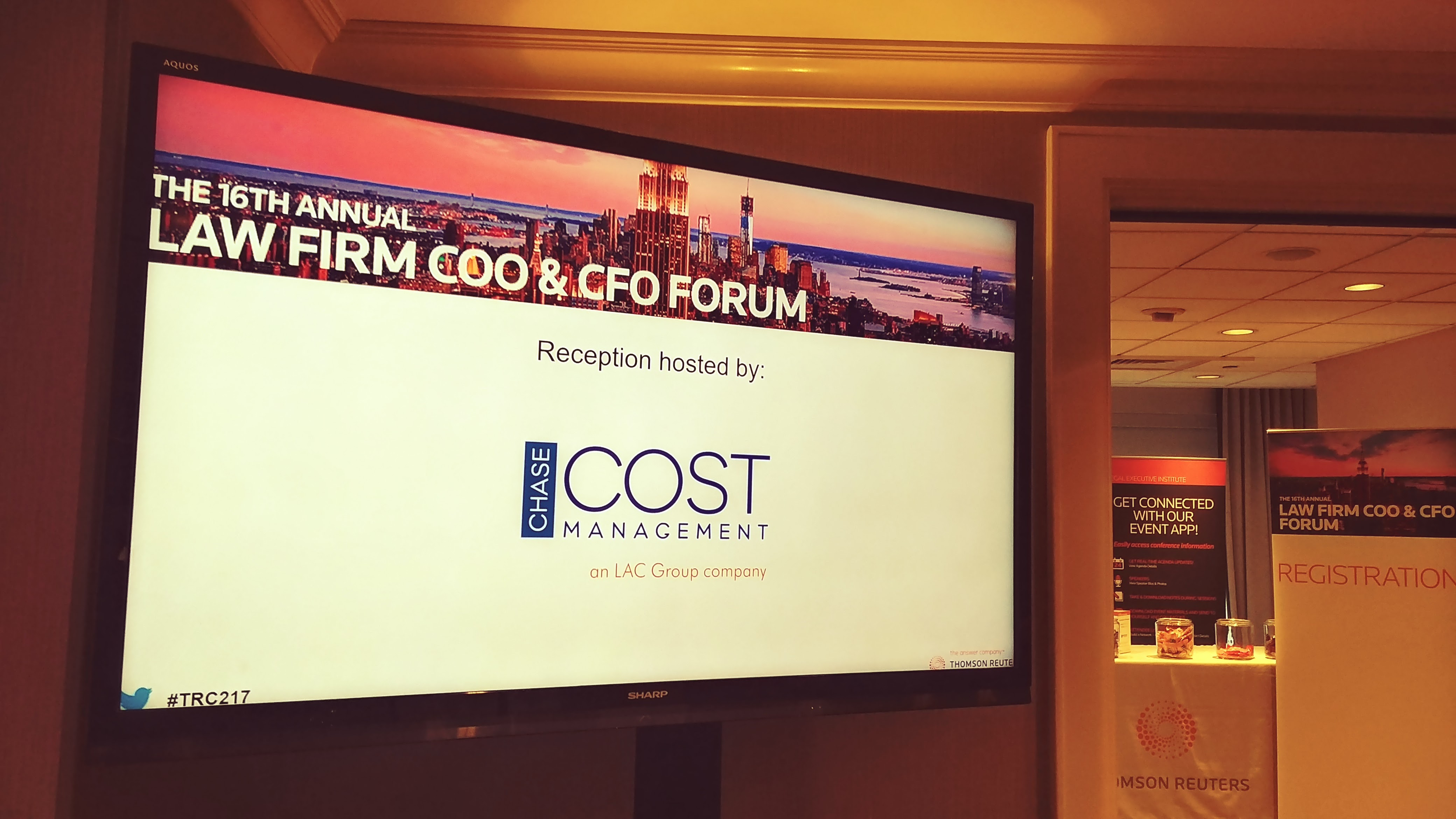 TR COO-CFO 2017 forum reception